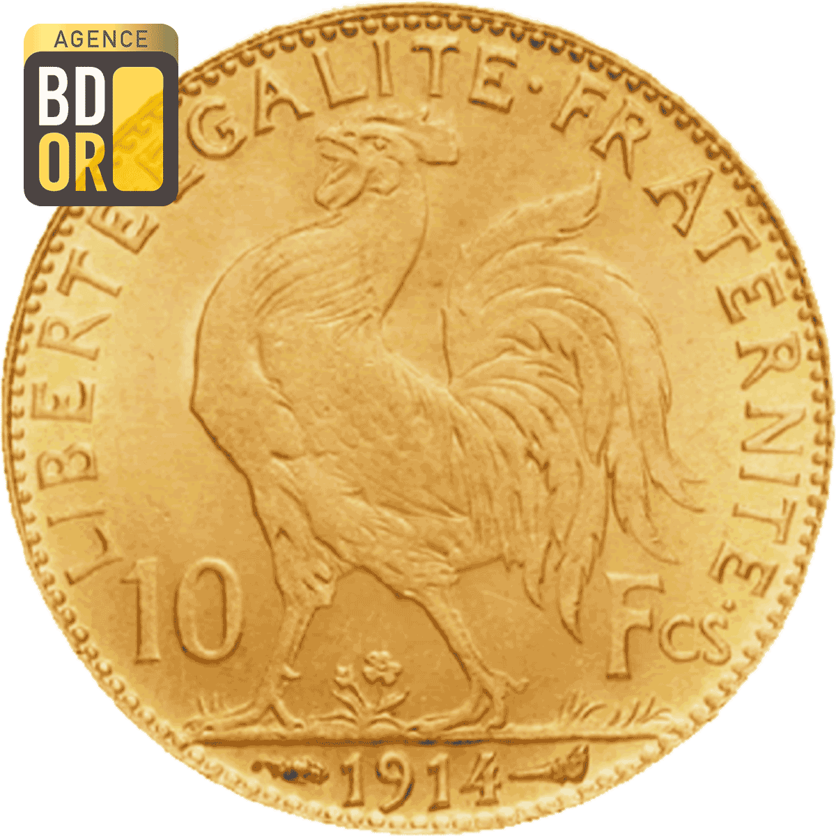 10 Francs Or Coq Marianne